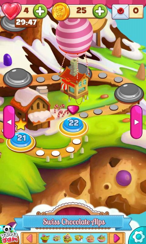 Cookie Jam Map Screen - Match 3 Game - iOS Game - Android Game - UI - Game Interface - Game HUD - Game Art