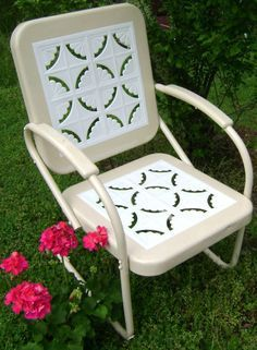 16 best outdoors images on pinterest   vintage metal chairs, aqua