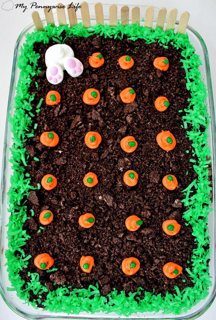 Easy Easter Dirt Cake: An easy, festive, no-bake Easter dessert. (Gluten-free op…  – Cakes