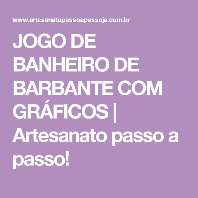 JOGO DE BANHEIRO DE BARBANTE COM GRÁFICOS   Artesanato passo a passo!