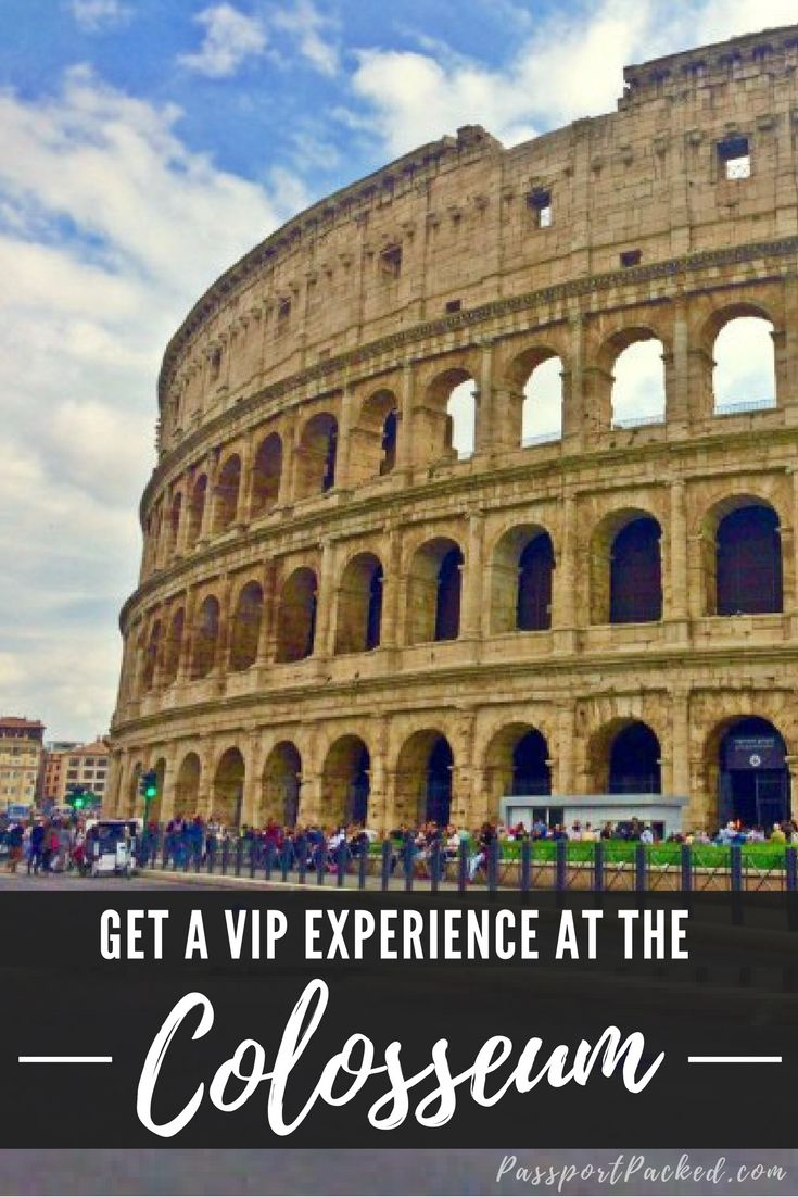 How I got a VIP experience at the Colosseum in Rome! This Colosseum Tour was one of the best things I did in Rome - This Rome travel hack was like having a backstage pass and VIP ticket. What to do in Rome!