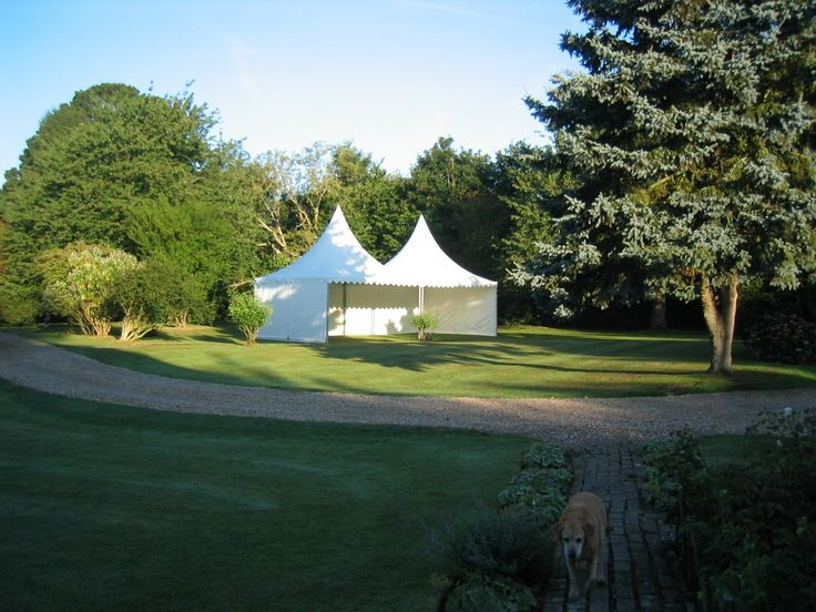 Two 5m x 10m Top Hat Tents