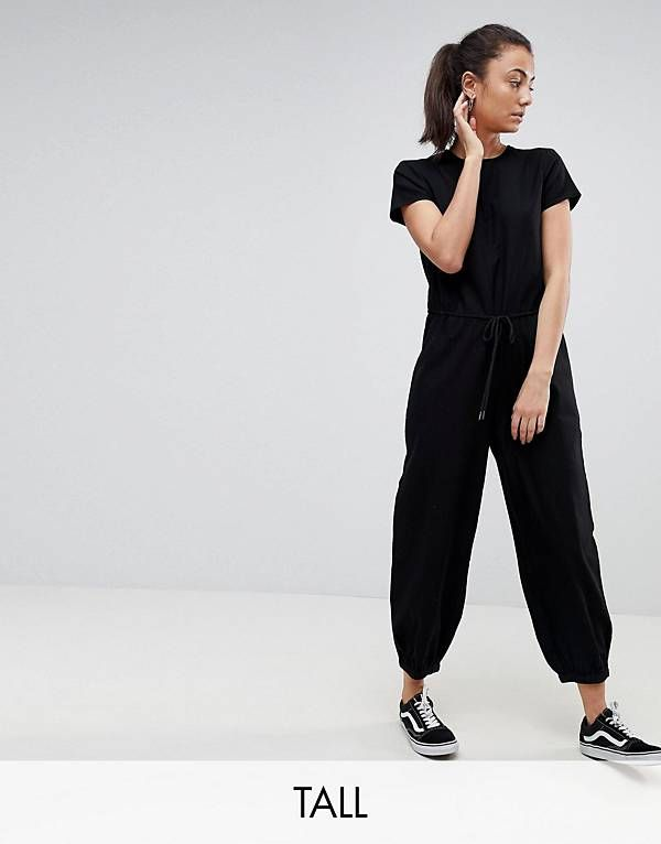 364599744407 Noisy May Tall Relaxed Woven Jumpsuit