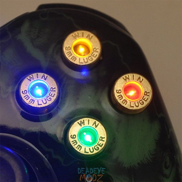 led bullet mod xbox controller 1 photo