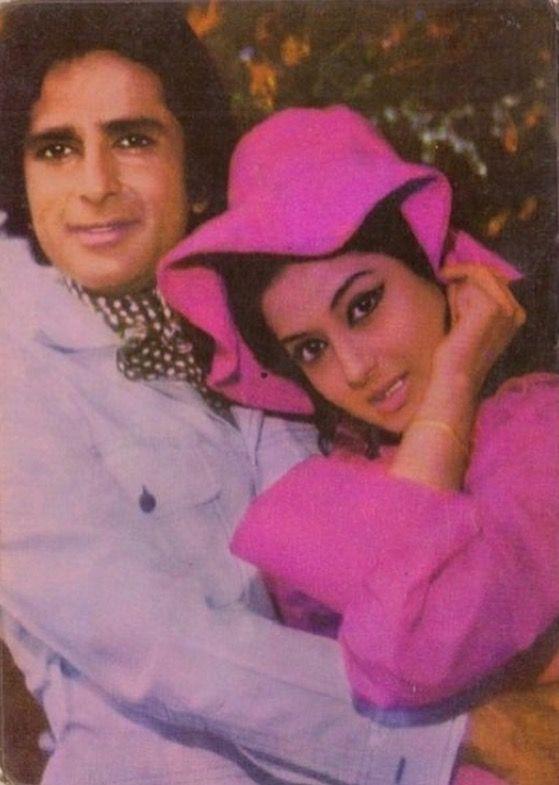 Shashi Kapoor and Moushumi Chatterjee