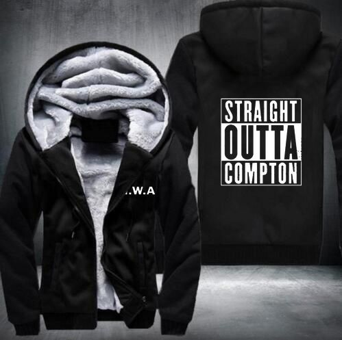 >> Click to Buy << Straight Outta Compton NWA California GOTHIC Eazy E NWA Dr. Dre hip hop Hoodies men Thicken Fleece Coat USA EU size Plus size #Affiliate