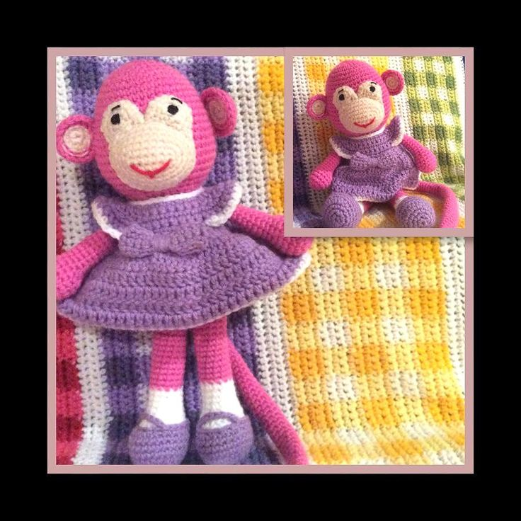 crochet amigurumi monkey, crocheted especially for 2016.