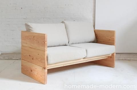 DIY Box Sofa   Featuring HomeMade Modern... Sha Sugi Ban It?