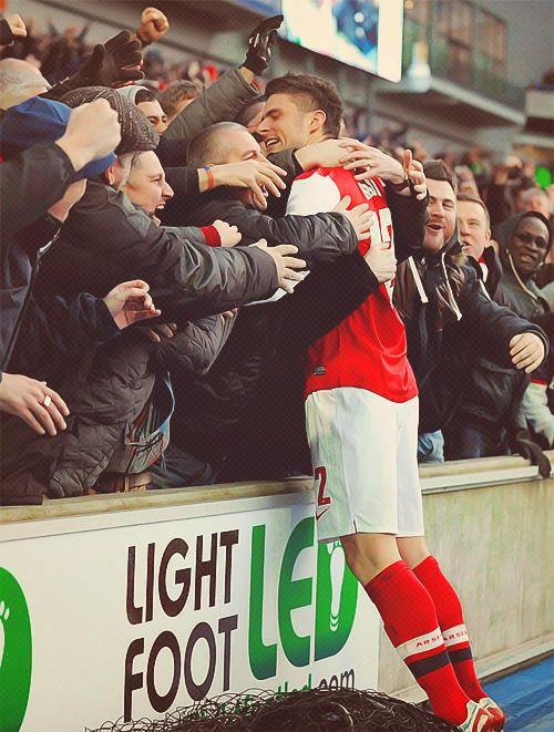 Gooners loves Olivier Giroud