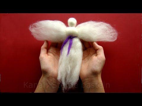 Bastelideen Weihnachten: Engel basteln mit Wolle - Weihnachtsbasteln mit Kindern - YouTube