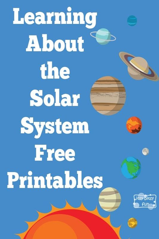 learning about solar system part one - Free Printables For Children