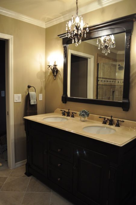 Small Spa Master Bath Redo Updated The Light Fixtures Bathroom Hardware Was Purchased At