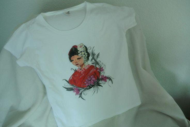 Handbemalte T-Shirt nach wuensch auch andere Motiv