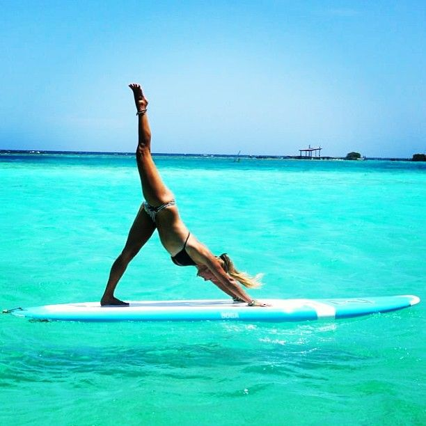 Yoga on water! Brilliant. Stand Up Paddle Boarding is on my bucket list!