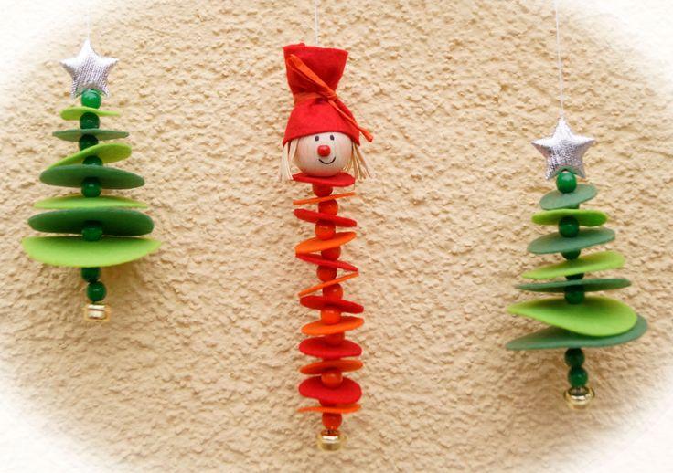 Bastelset für Weihnachtswichtel mit Tannenbäume aus Filz Dekoration