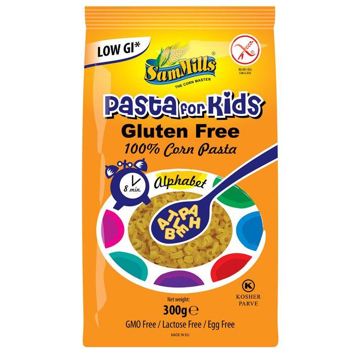 Pasta alfabet voor kinderen glutenvrij
