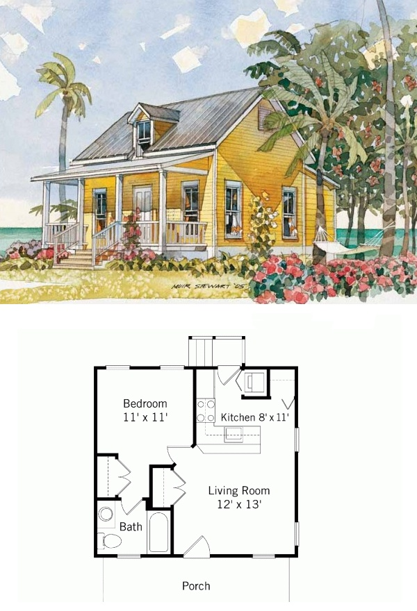 "By Moser Design.  Width 22' 8"", length 21' 4"", 484 sq ft.  country, cottage, craftsman, bungalow, house plans"