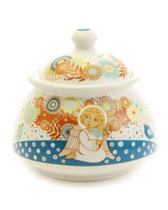 Guardian Angel Sugar Bowl  Special Price $11.00 was $16.00, #CatalogOfGoodDeeds #CatalogOfStElisabethConvent #gift #present #easter #easter2017 #eastergift #easterideas #decor #craft #woodencraft #ceramic #clay #teaset #cups #bell #ecotoy #decoration #spring #feast #pasqua #CD #egg #glass