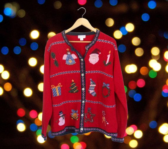 Women Ugly Christmas Sweater Party Tacky Holiday Cardigan Plus Size by #ShineBrightVintage