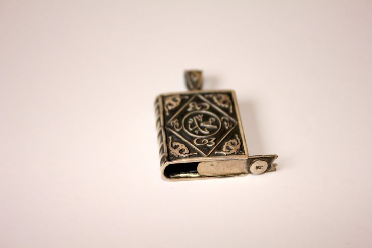 Vintage Sterling silver turkish book pendant by EastOfEdan on Etsy