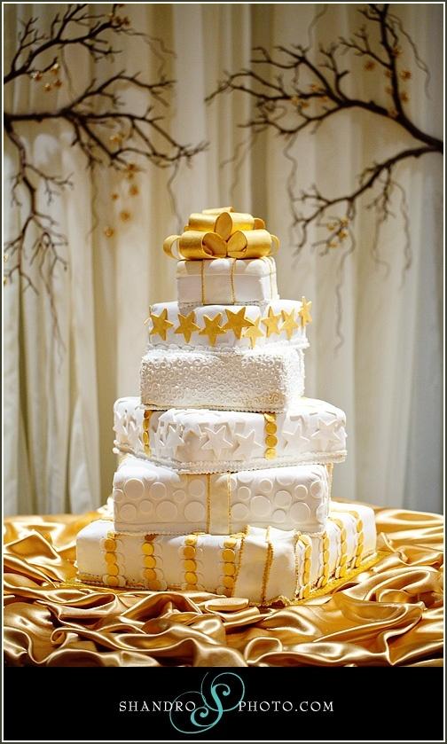 yellow and white wedding cake #indianwedding