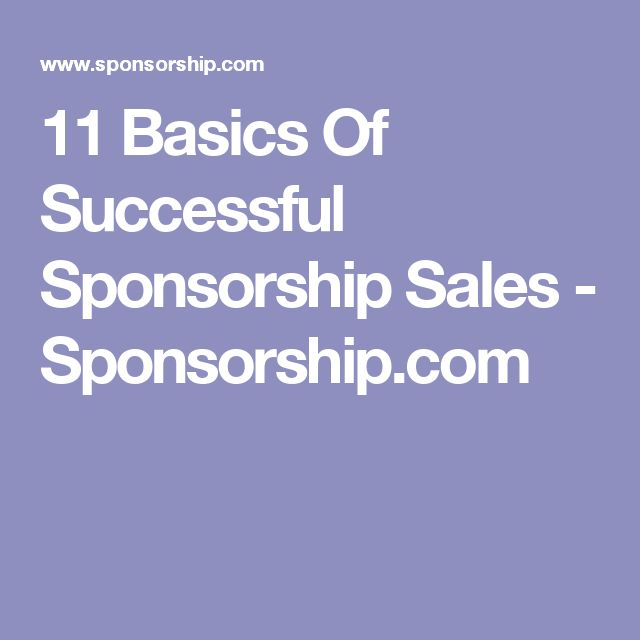 11 Basics Of Successful Sponsorship Sales - Sponsorship - sponsorship thank you letter sample