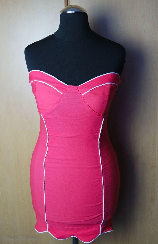 iRot Bandeau-Kleid Gr. XS Weiß Mini Abendkleid Partykleid Schlank weihnachtskleid