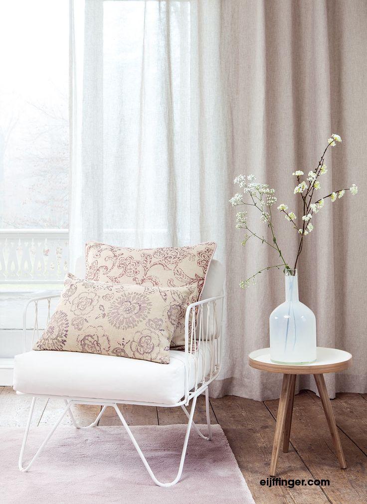 Eijffinger #inbetween Fleur in naturel kleur. #inspiratie #gordijnen #curtains