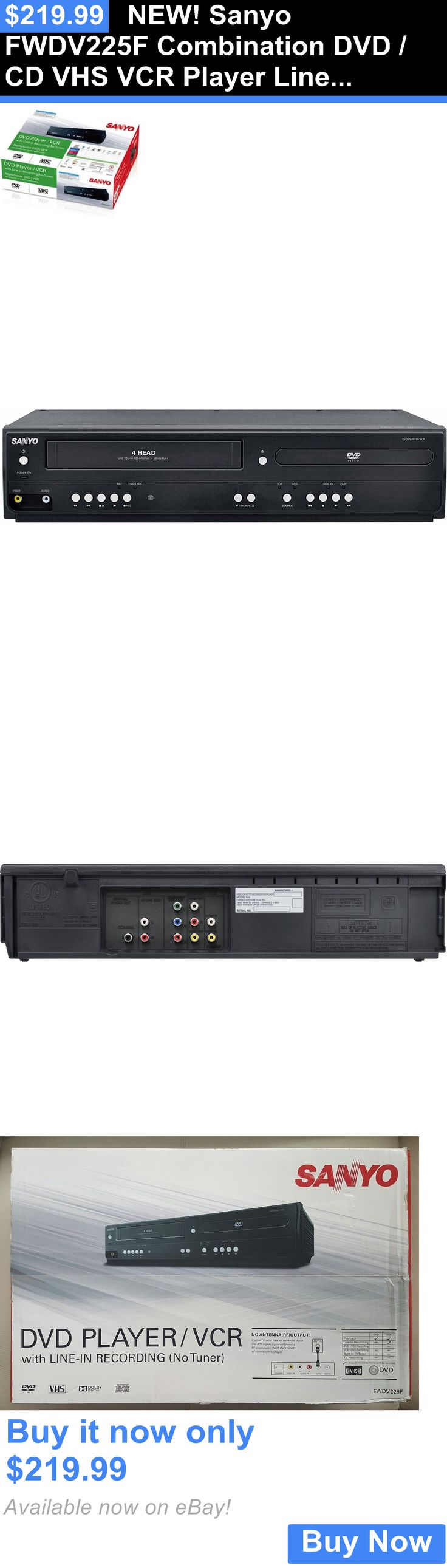 DVD and Blu-ray Players: New! Sanyo Fwdv225f Combination Dvd / Cd Vhs Vcr Player Line In Recording Remote BUY IT NOW ONLY: $219.99