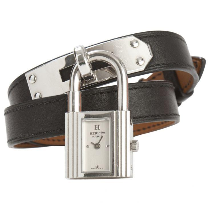 hermes silver steel watch kelly