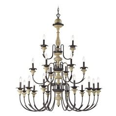 Elk Lighting Channery Point Oil Rubbed Bronze, Aged Cream Chandelier