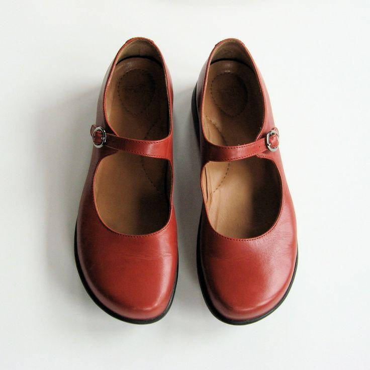 dansko red mary janes