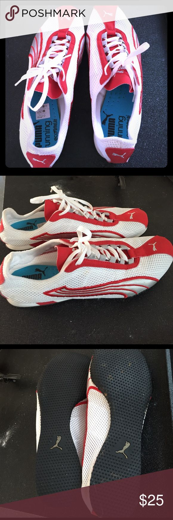Men's Puma Running shoes Men's Puma Running shoes ...red and white size 10 Puma Shoes Sneakers