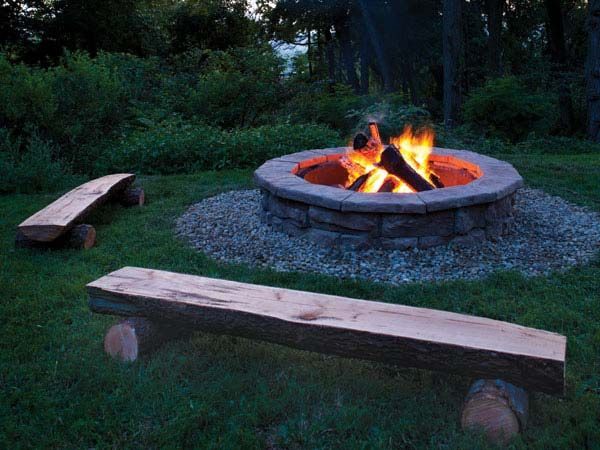 Fossil Stone Fire Pit from Natural Concrete Products