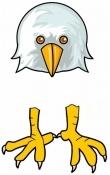 Eagle Head & Feet for Hand & Footprint Eagle