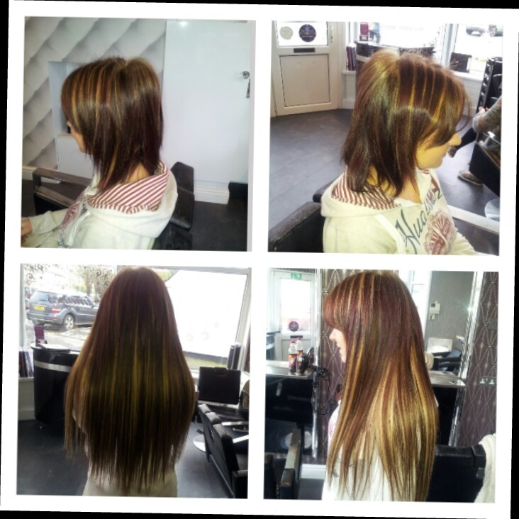 Before And After Weave In Extensions 175 Doverkent Hair