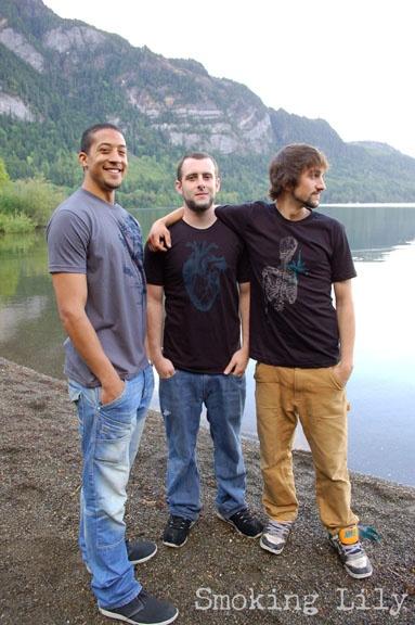 Smoking Lily printed men's t-shirts