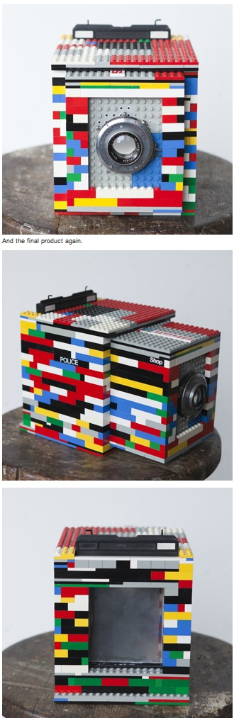 Cary Norton created a working large format camera out of LEGOS. Dubbed