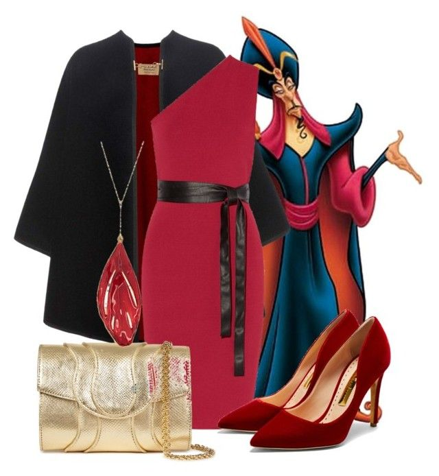 Jafar by dressing-like-disney on Polyvore featuring NOIR Sachin + Babi, Burberry, Rupert Sanderson, Khirma Eliazov and Aurélie Bidermann