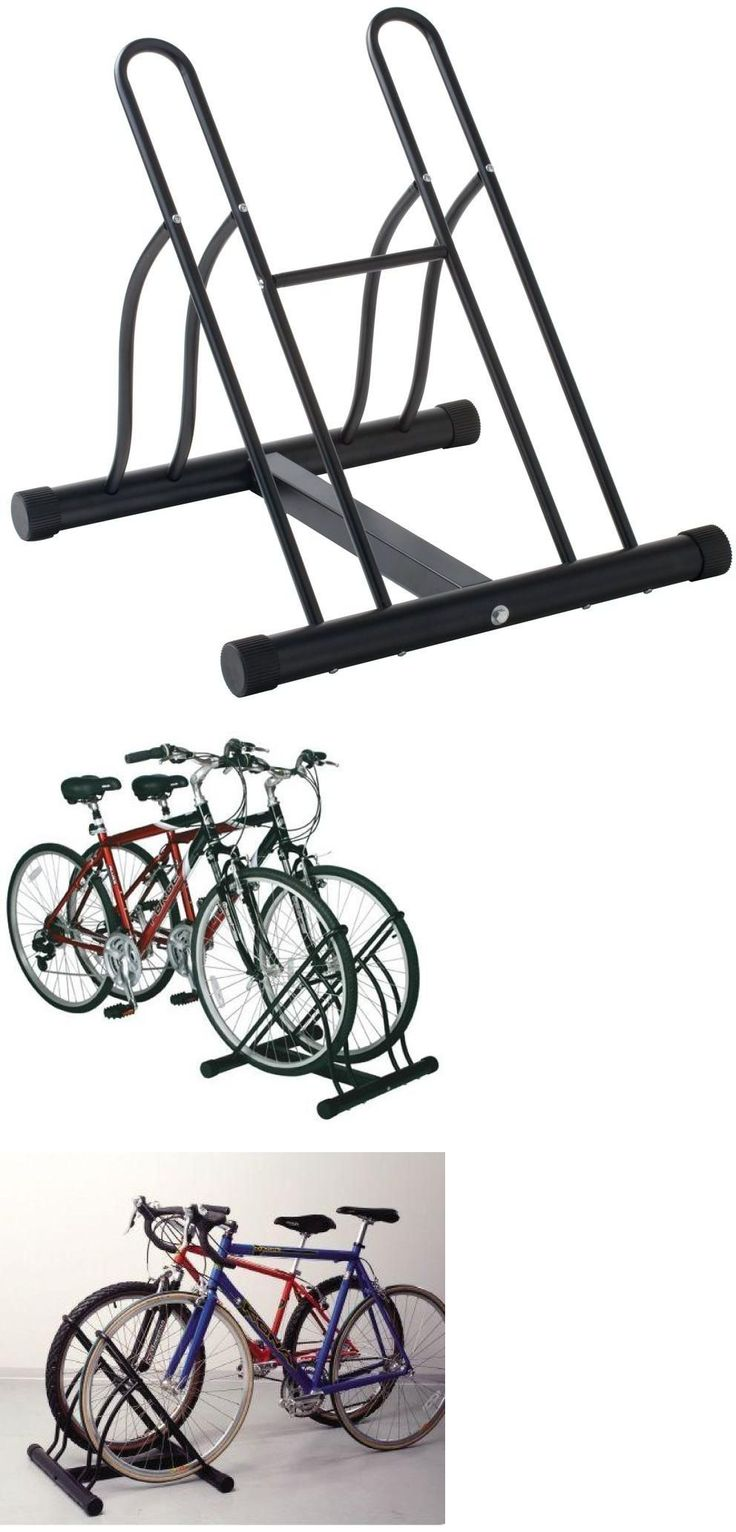 Bicycle Stands and Storage 158997: Bike Floor Stand, 2 Bicycle Storage Organizer Durable Garage Holder Rack New BUY IT NOW ONLY: $50.13