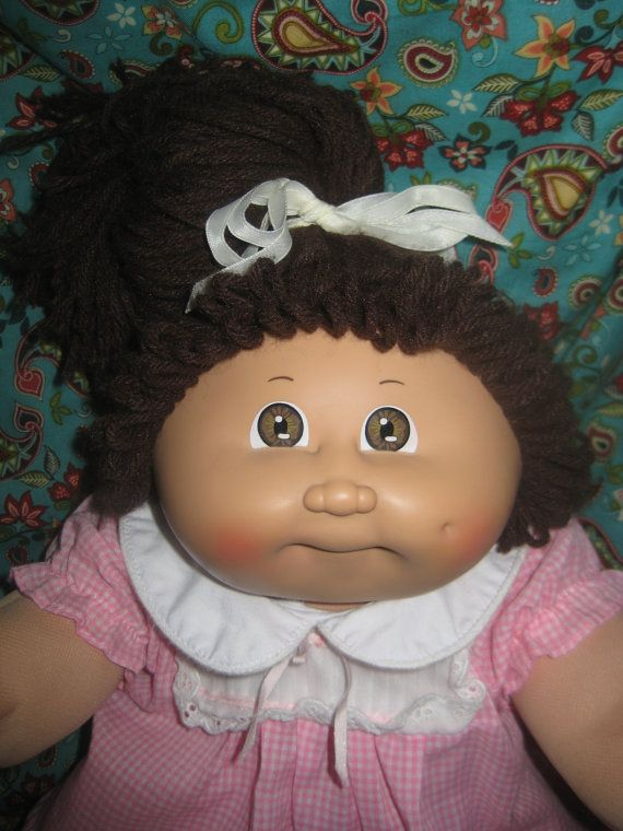 Vintage Cabbage Patch Kid Doll Girl via Etsy