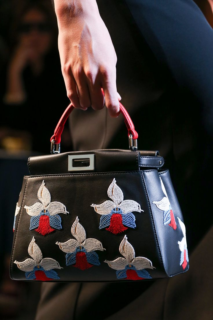 Fendi spring summer 2015 runway bag collection spotted fashion - Fendi Spring 2015 Handbags I M Such A Sucker For Nature And Pattern