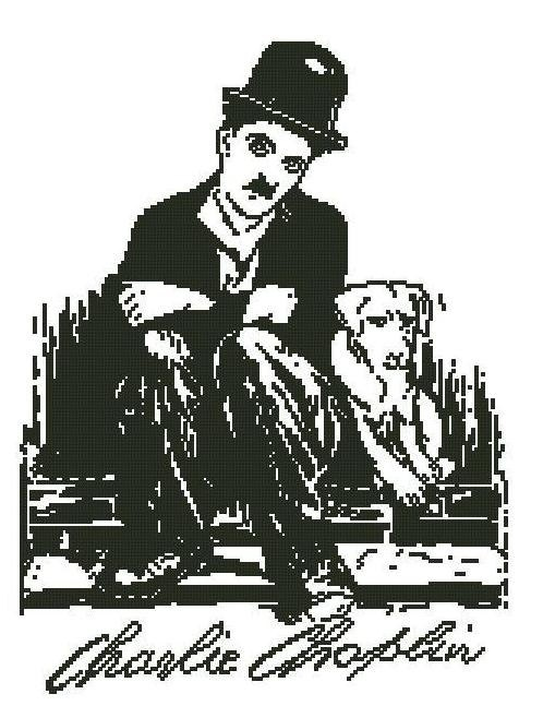 Charlie Chaplin cross stitch pattern pdf by sunshinehomedecor, $8.00