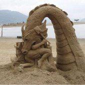 Sand Kunstwerk