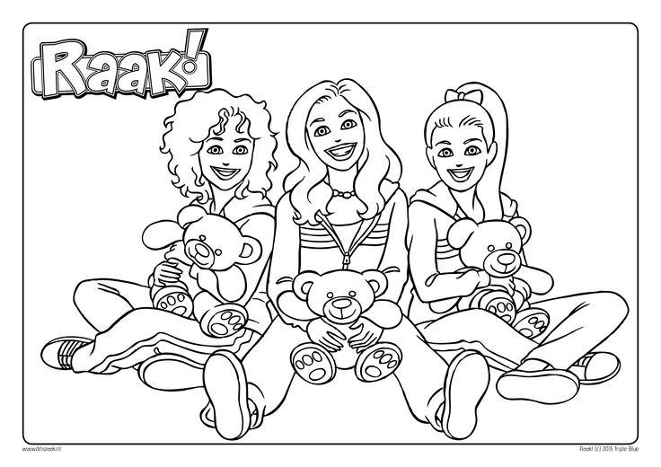 Kleurplaat Teddybeer - Daan, Roos en Sharon van Raak!