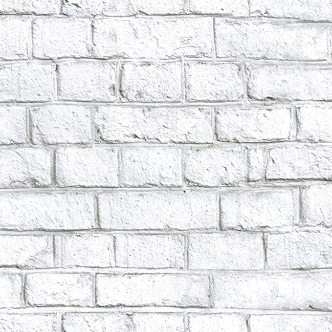 Roommates Rmk11237wp White Brick Peel And Stick Wallpaper Amazon Com White Wash Brick Brick Wallpaper Faux Brick