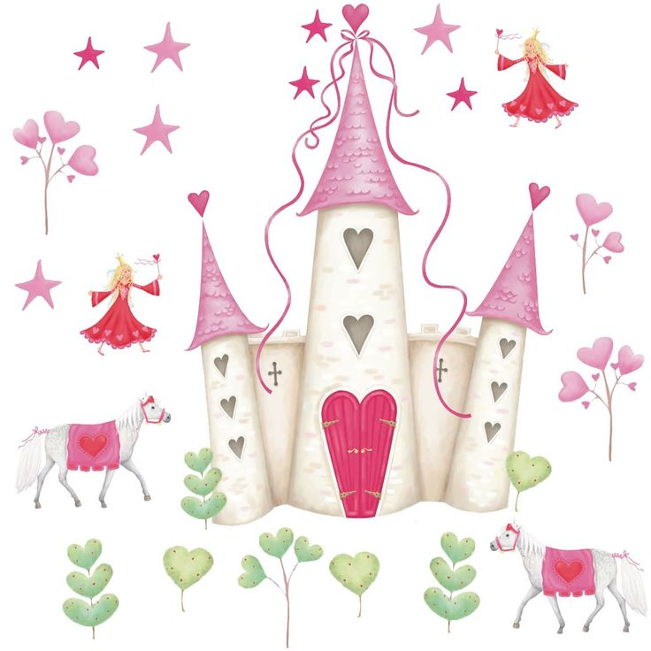Princess Castle Wall Murals, Girls Wall Stickers, RoomMates Wall Stickers |  Becky U0026 Lolo Part 55