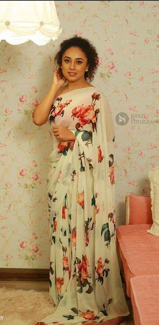 Flowery saree