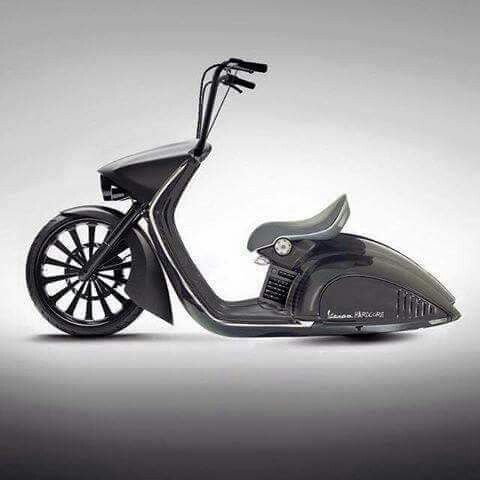 Custom jet black #vespa cruiser - #ridersline #motostyle
