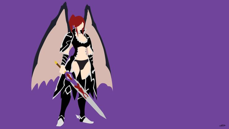 Black Wing Erza Scarlet [Fairy Tail] by SkyArctic